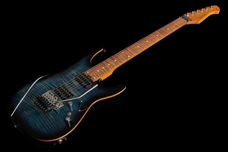 Kytara č.2Harley Benton Fusion-II HH FR Roasted FBLB
