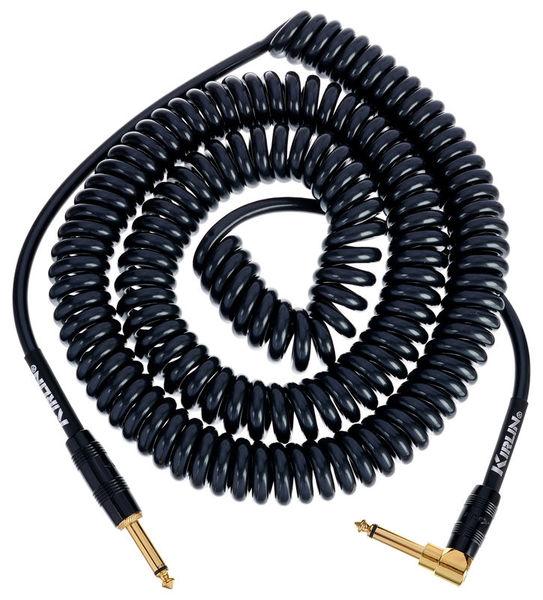 Premium Coil Cable 9m Black Kirlin